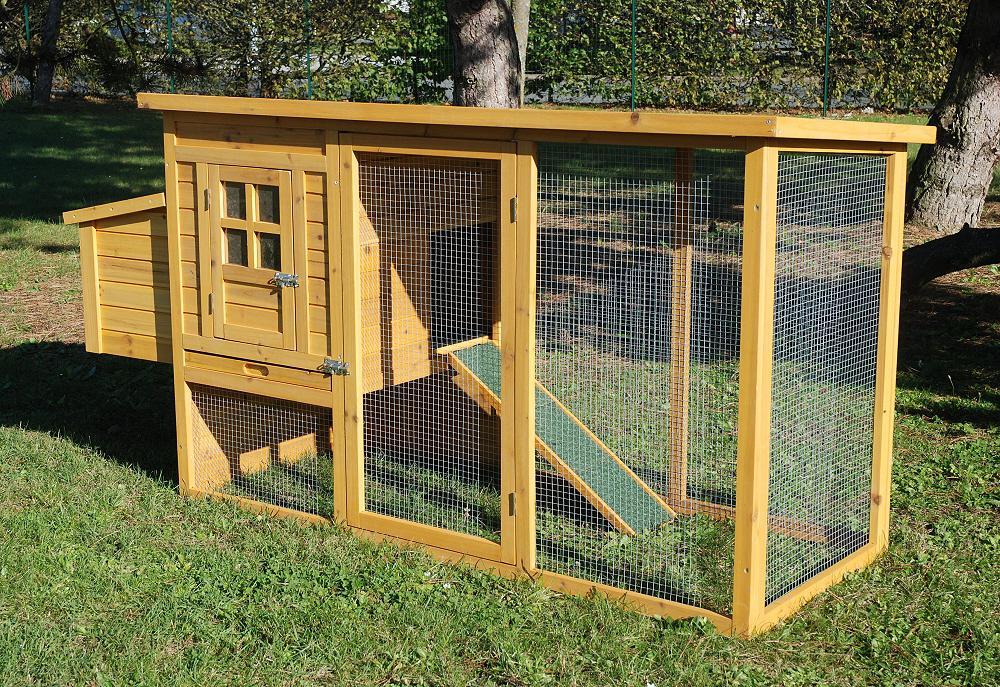 Poulailler cottage 2 avec pondoir pour 2 poules - Grillage poule pas cher ...