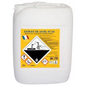 Extrait de javel 48 en 20 litres pour piscines - Extrait de javel ...
